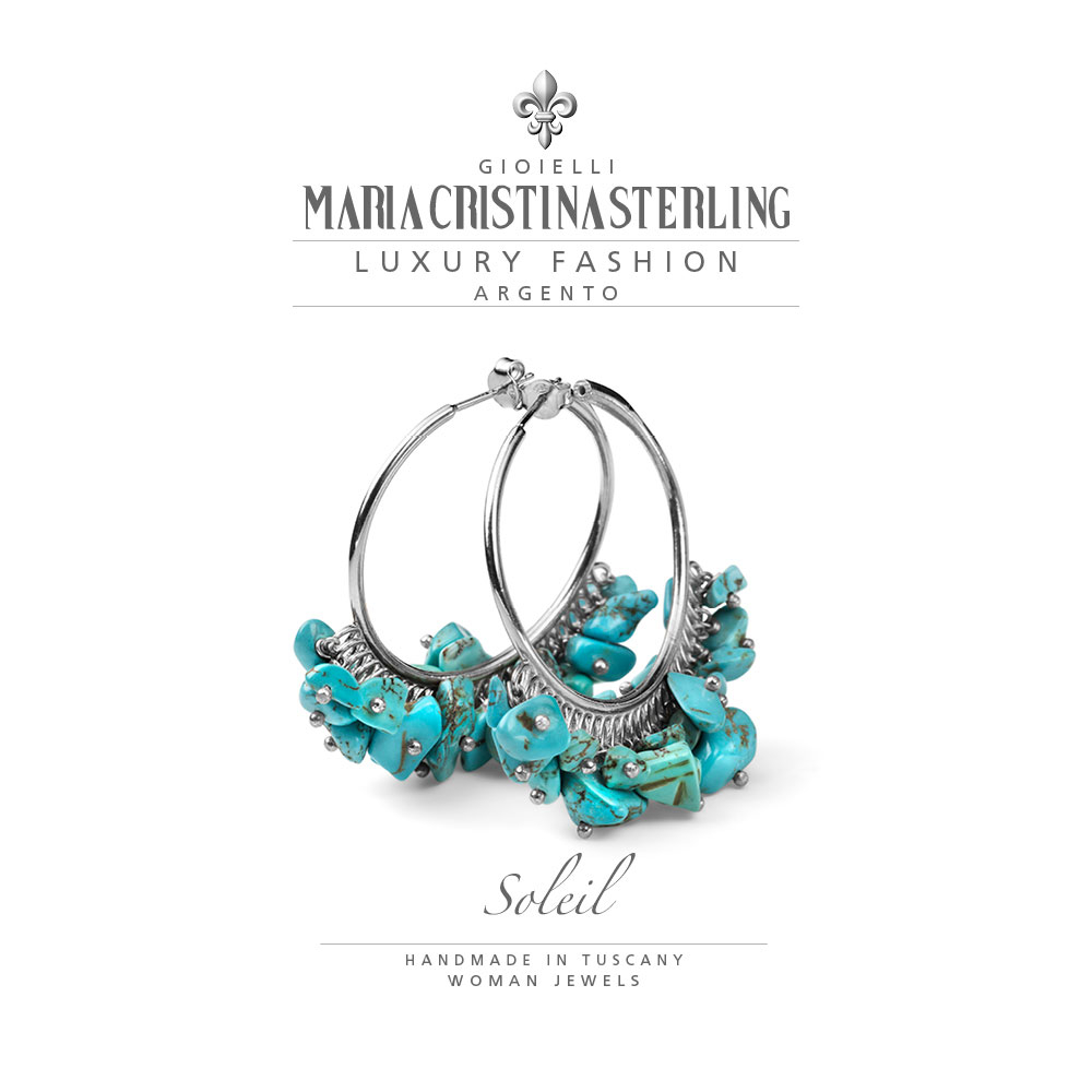 Orecchini Maria Cristina Sterling Collezione Soleil