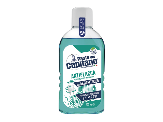 COLLUTORIO 400 ML ANTIPLACCA CON ANTIBATTERICO NO ALCOOL