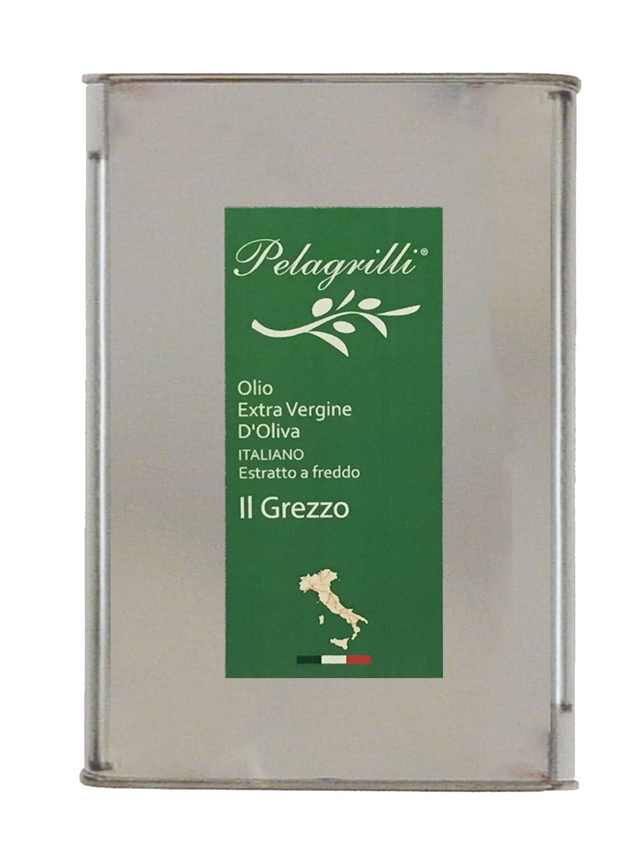 100% ITALIANO LT 3  Olio extravergine di oliva- estratto a freddo- Raccolto 2019-2020- GREZZO