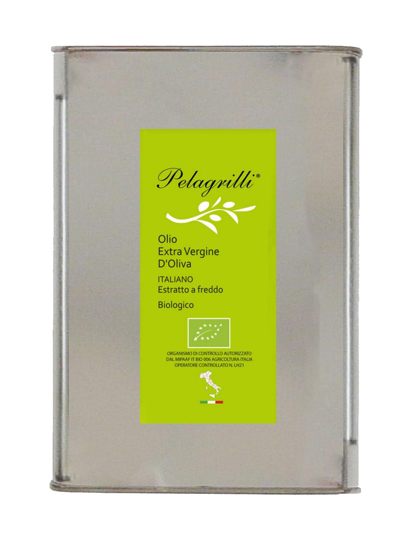 ORGANIC 100% ITALIAN LT 3 Natives Olivenöl extra - kalt extrahiert - Ernte 2019-2020-GEFILTERT