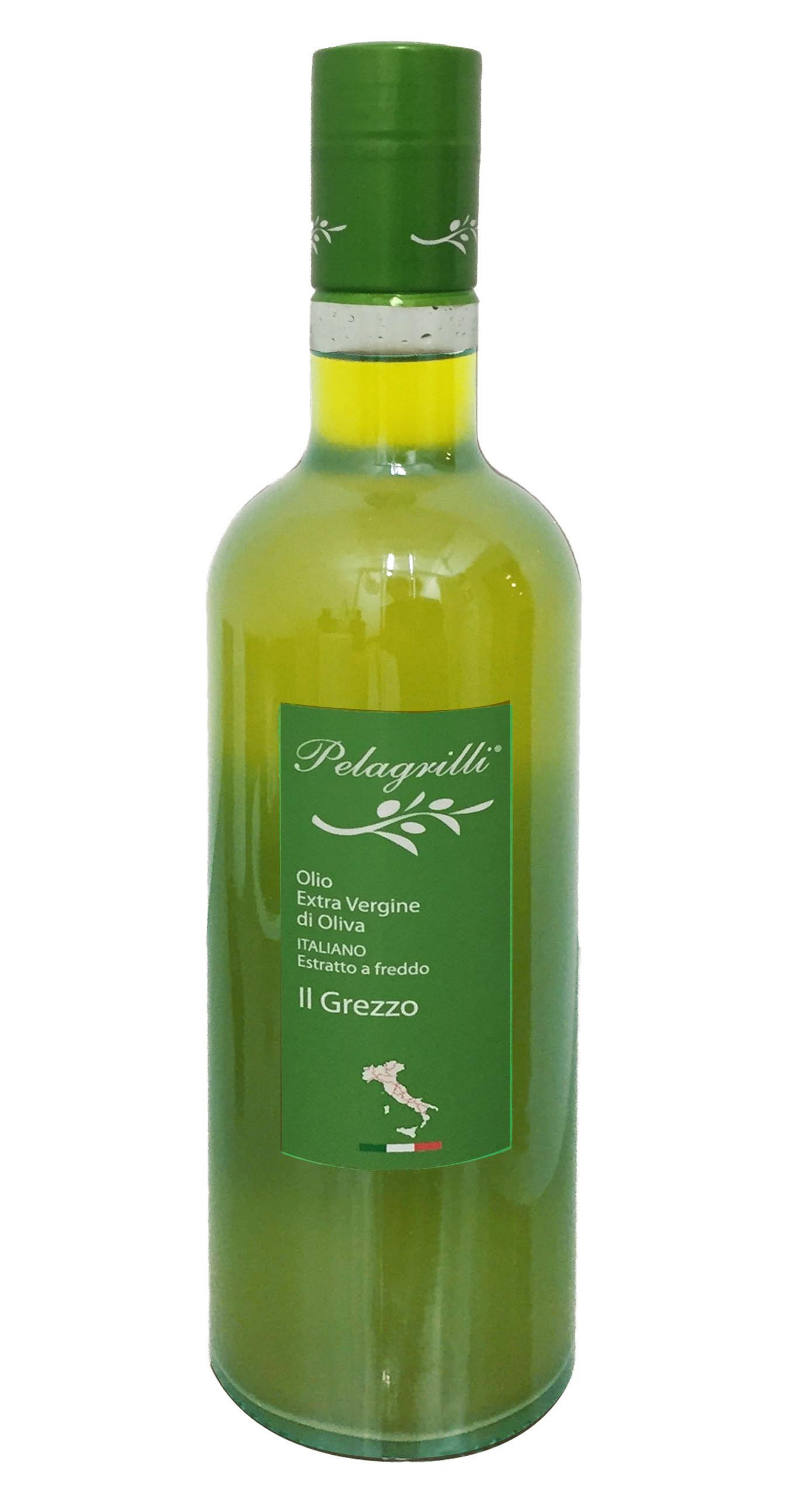 100% ITALIANO LT 0,75  Olio extravergine di oliva- estratto a freddo- Raccolto 2019-2020- GREZZO