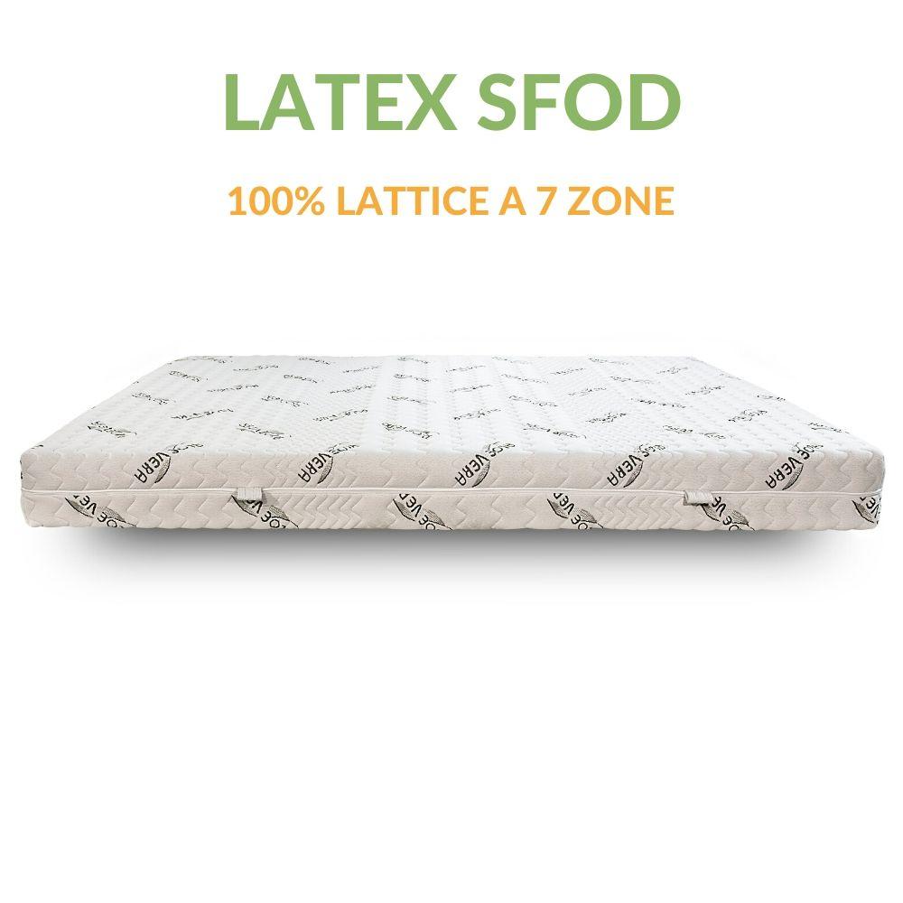 Materasso in Lattice a 7 Zone con Tessuto Aloe H18 | Latex Sfod | Prezzi a partire da