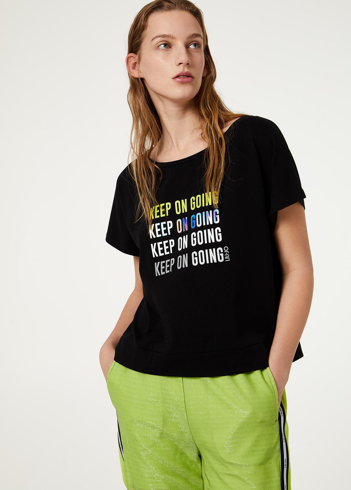 T-shirt Liu Jo sport stampa TA0012J5003