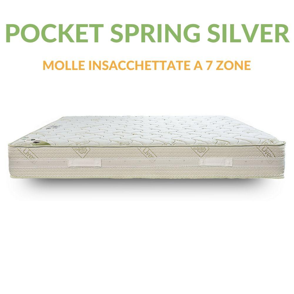 Materassi A Molle Insacchettate.Materasso A Molle Insacchettate H23 Pocket Spring Silver