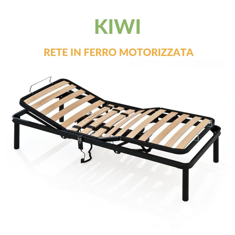 Rete in ferro motorizzata a doghe in legno Ortopedica | Kiwi | Prezzi a partire da