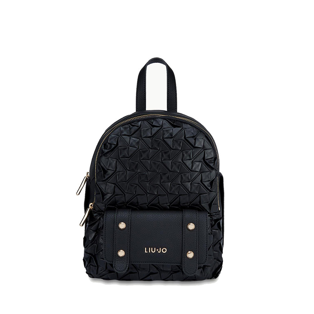 Zaino M Backpack nero effetto bottalato - LIU JO