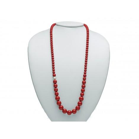 Miluna Collana Terra e Mare Corallo Rosso PCL4656