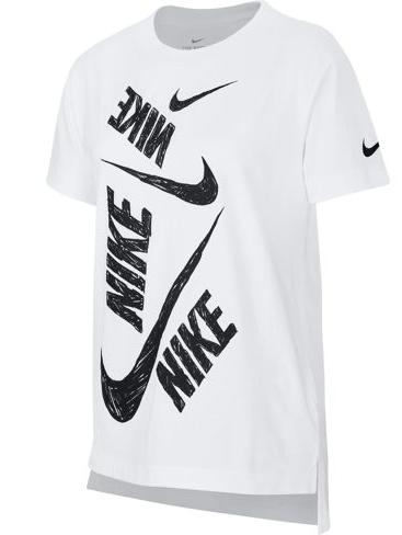 NIKE T-shirt Unisex Bambino CU6608-100WHITE