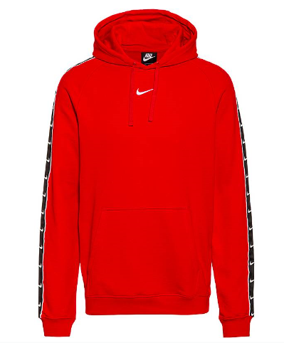 Nike Felpa con Cappuccio Uomo Sportswear Swoosh CV1030-657UNIVERSITY RED/BLACK
