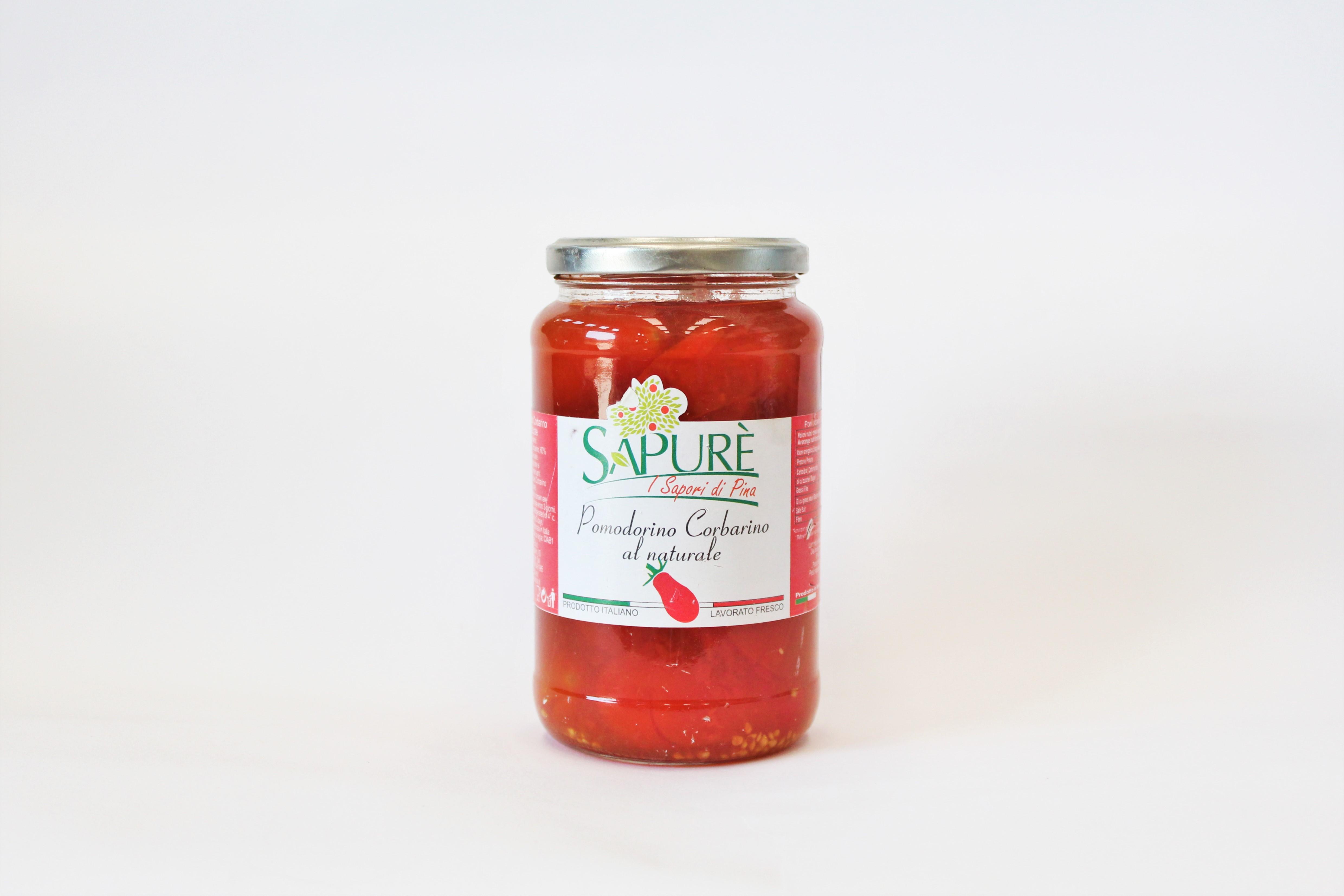 Pomodorini di Corbara - acqua e sale - vetro gr. 580