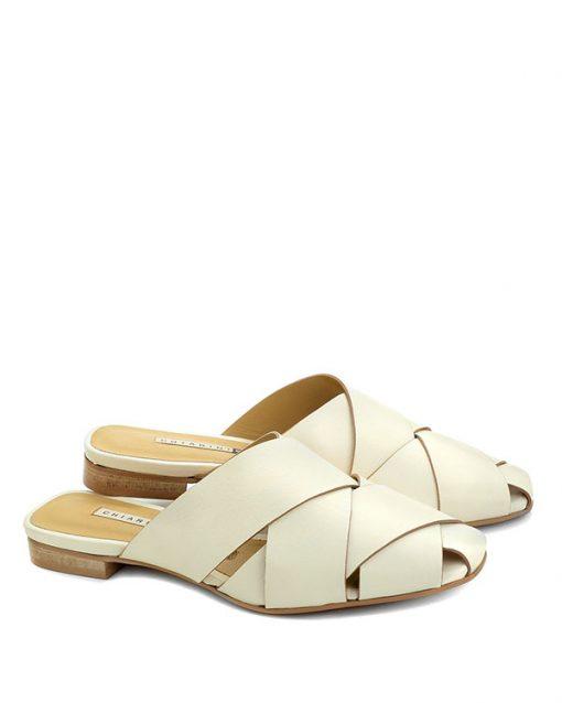 Sandalo basso in pelle bianco - CHIARINI BOLOGNA