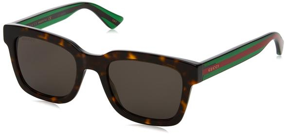 Gucci - Occhiale da Sole Uomo, Havana Striped Green/Grey Shaded  GG0001S  003  C52