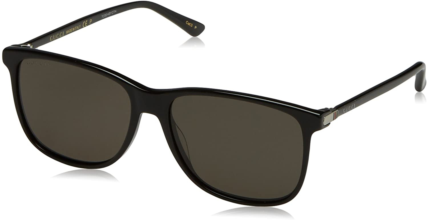 Gucci - Occhiale da Sole Uomo, Black/Grey Shaded  GG0017S  001  C57