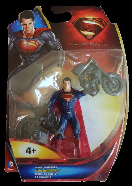 Superman Man of Steel (Action Figure): Superman e la sua moto