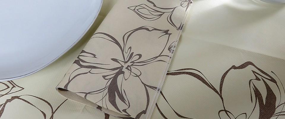 TOVAGLIA FLOWERS PANNA 100X100