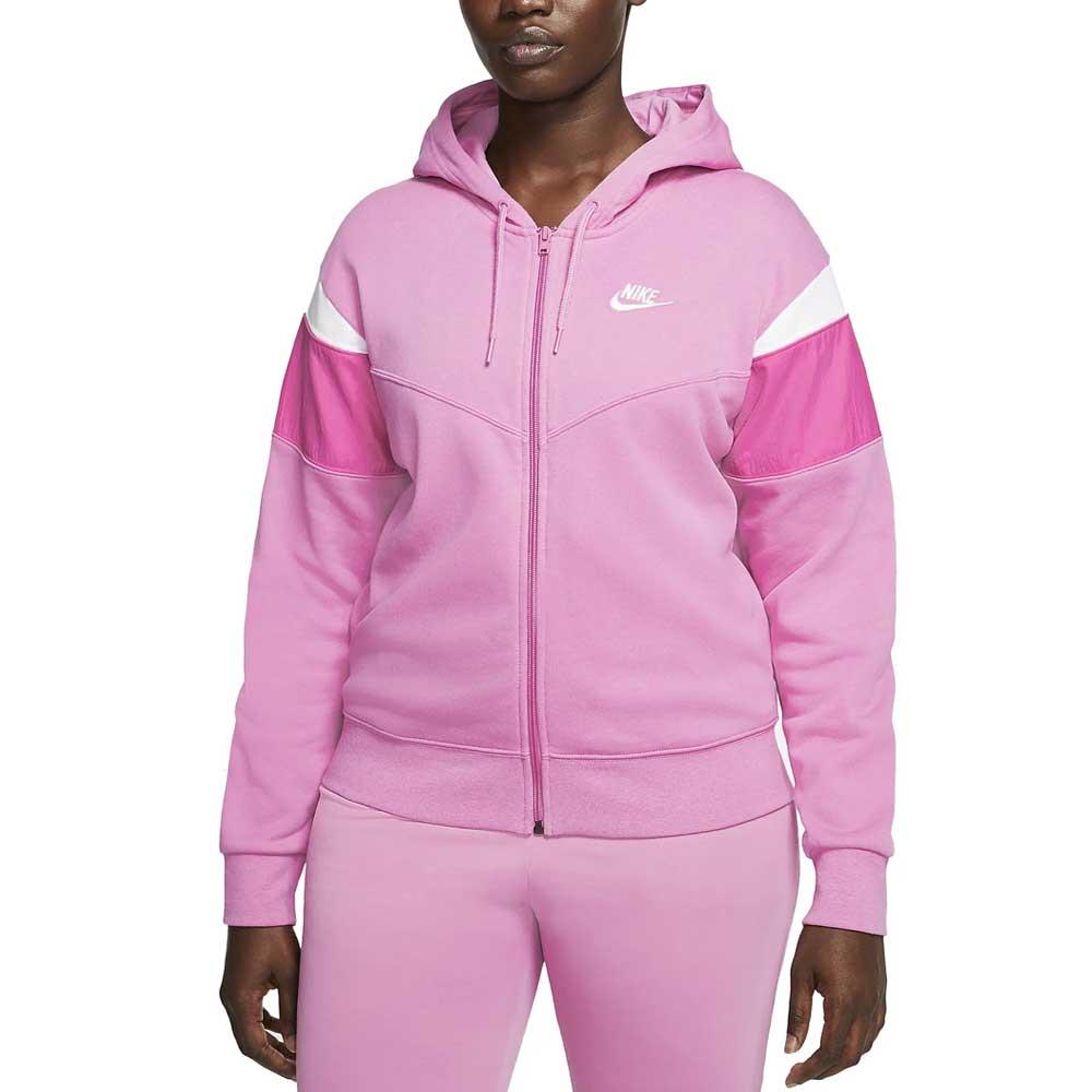 Felpa Nike Swoosh Pink da Donna