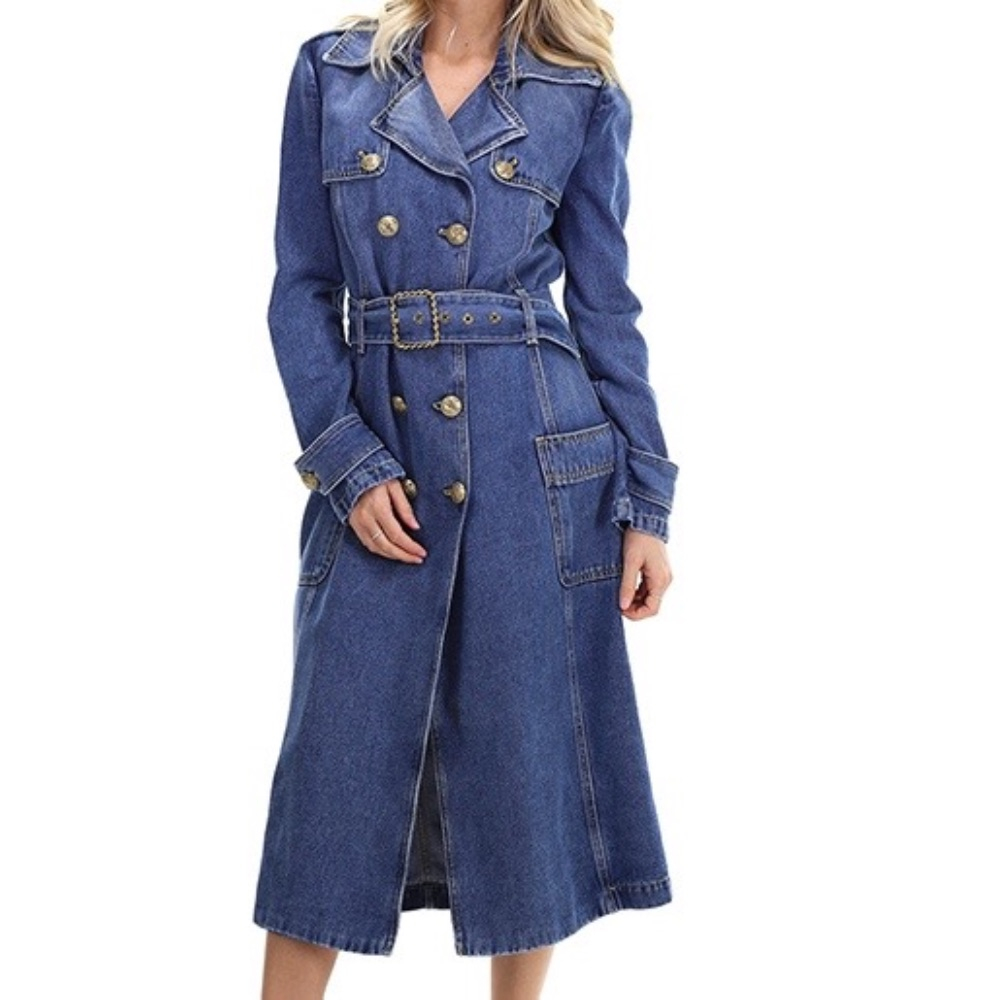 Spolverino in Jeans Elisabetta Franchi SS20