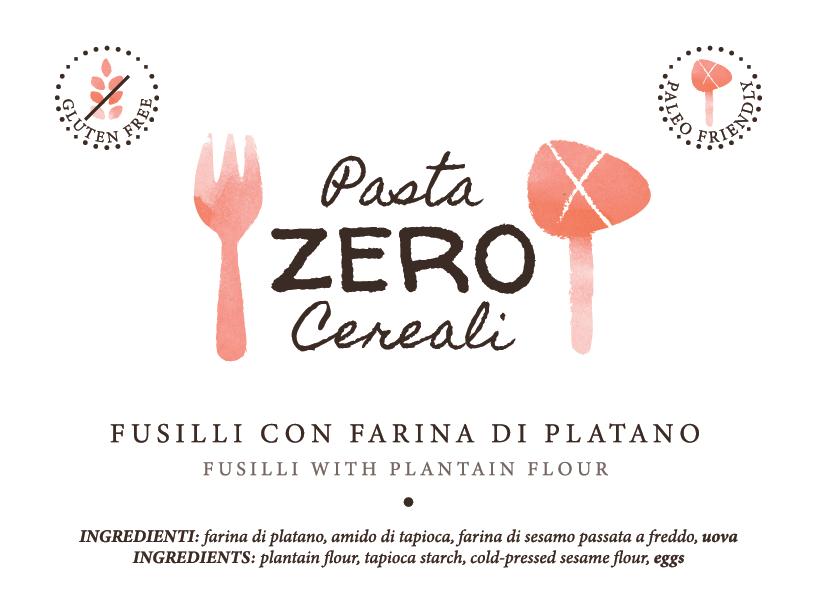 NOVITA' Fusilli ZeroCereali con Farina di Platano. No Glutine - No Legumi - No Latticini
