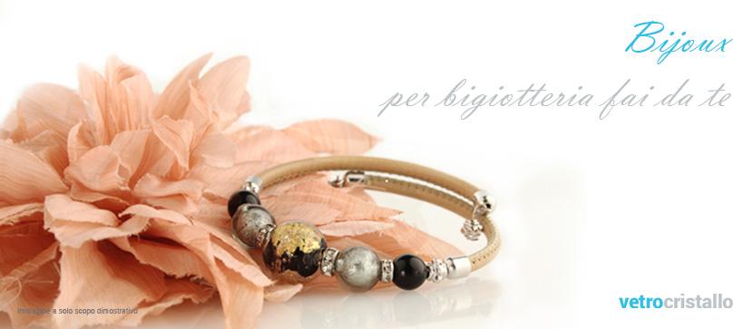 Perle, perline e bigiotteria in vetro di Murano per gioielli fai da te