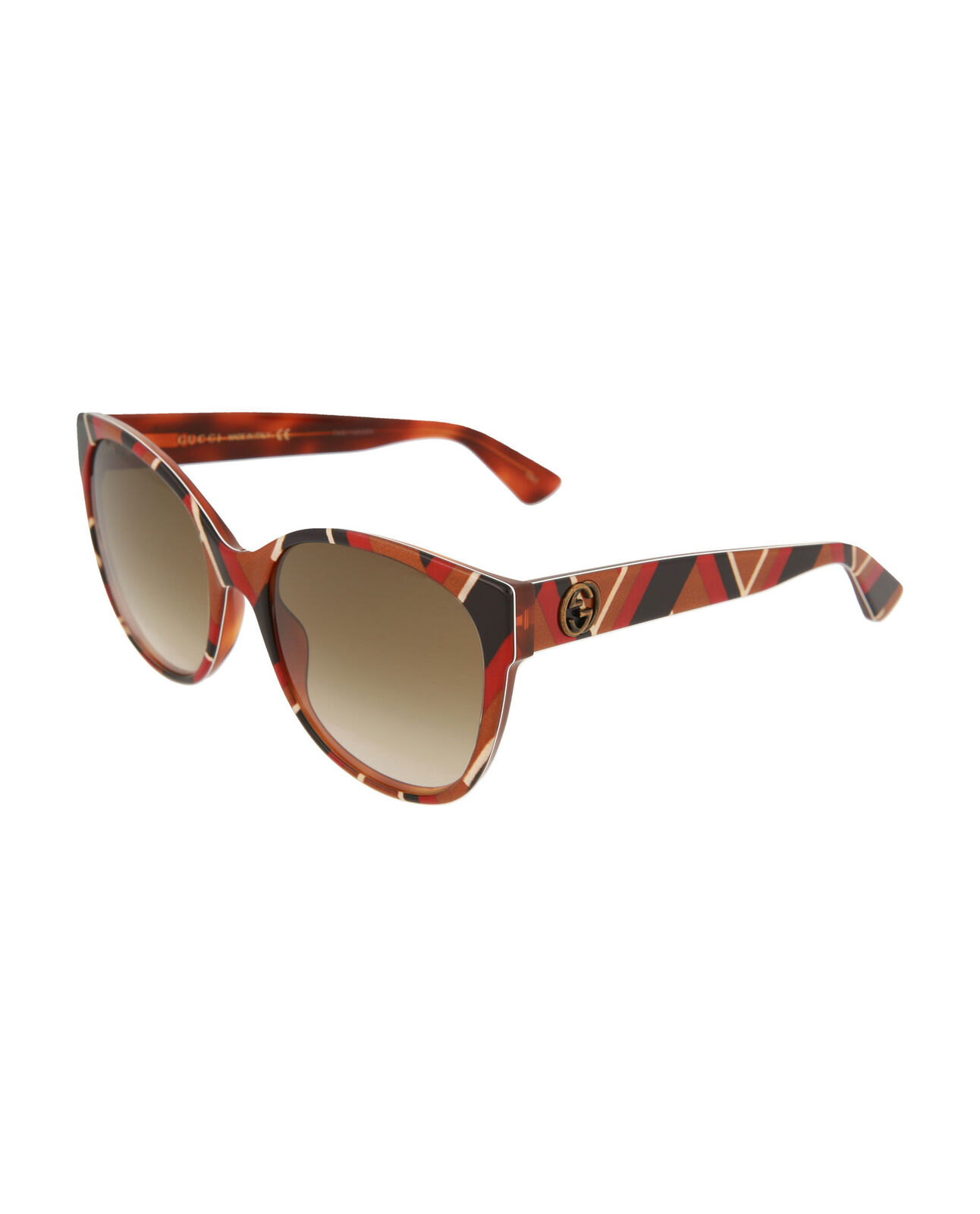 Gucci - Occhiale da Sole Donna, Havana Yellow/Brown Shaded  GG0097S  004  C55