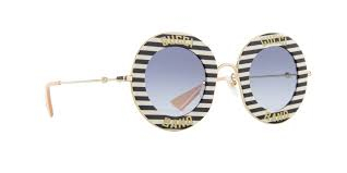Gucci - Occhiale da Sole Donna, Black White/Blue Shaded  GG0113S  008  C44
