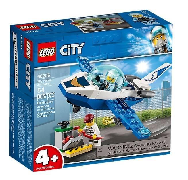 LEGO 60206 City Police Pattugliamento della Polizia aerea 60206 LEGO S.P.A.