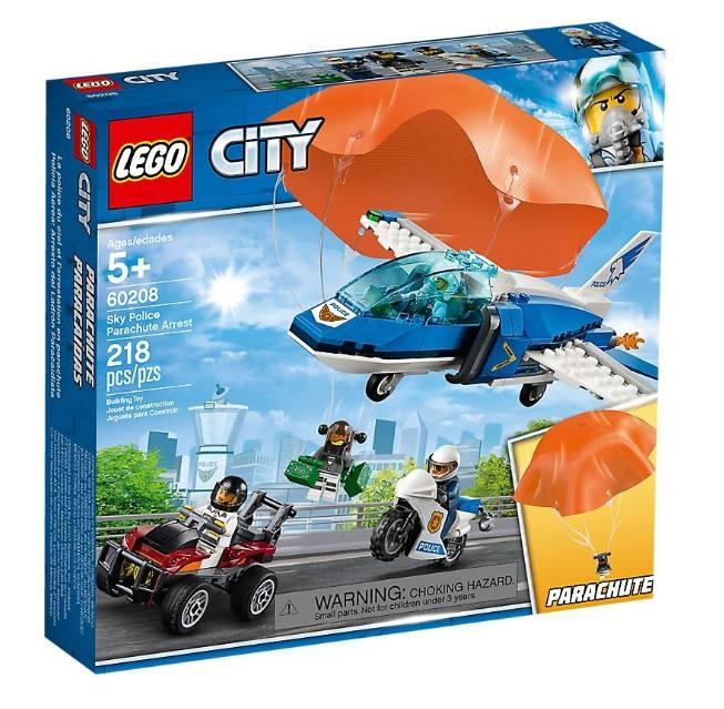 LEGO 60208 City Police Arresto con il paracadute della Polizia aerea 60208 LEGO S.P.A.