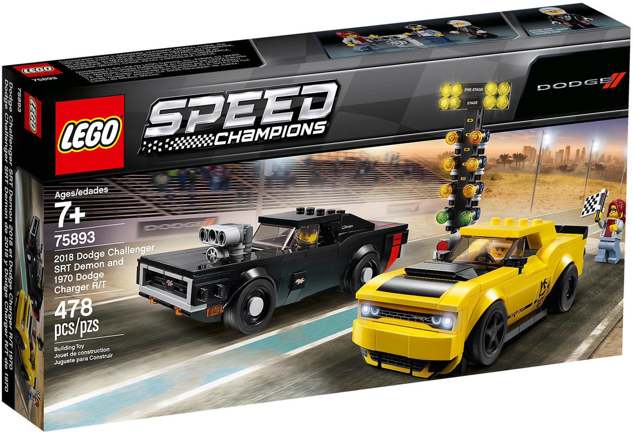 LEGO 75893 2018 Dodge Challenger SRT Demon e 1970 Dodge Charger R/T 75893 LEGO S.P.A.