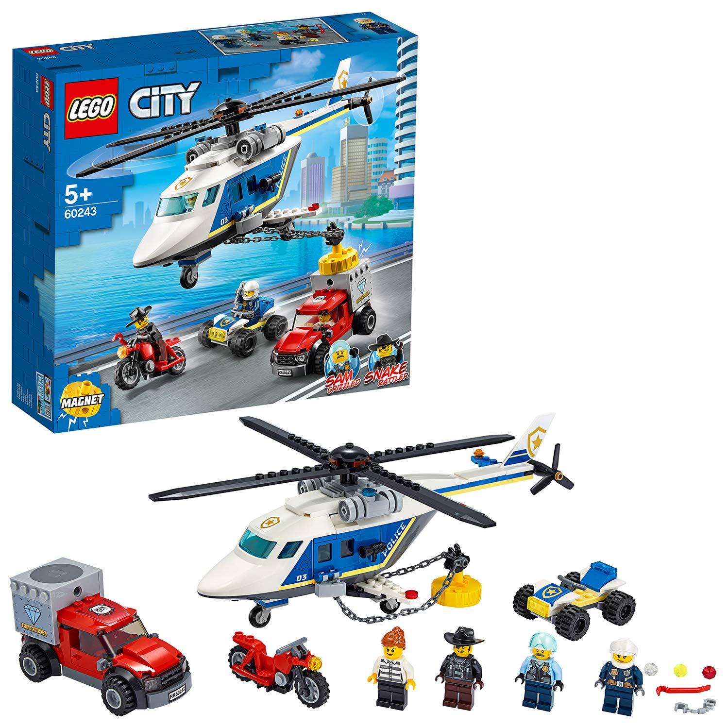 LEGO 60243 Inseguimento sull.elicottero della polizia 60243 LEGO S.P.A.