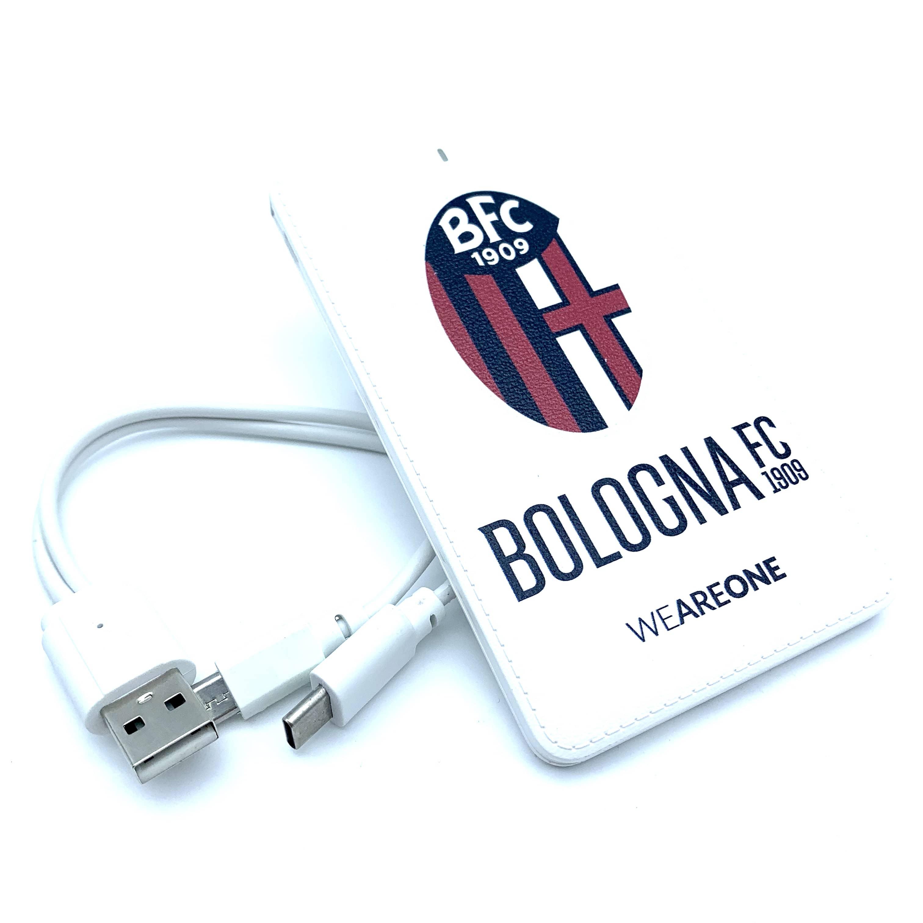 Bologna Fc POWER BANK IN PELLE BIANCO