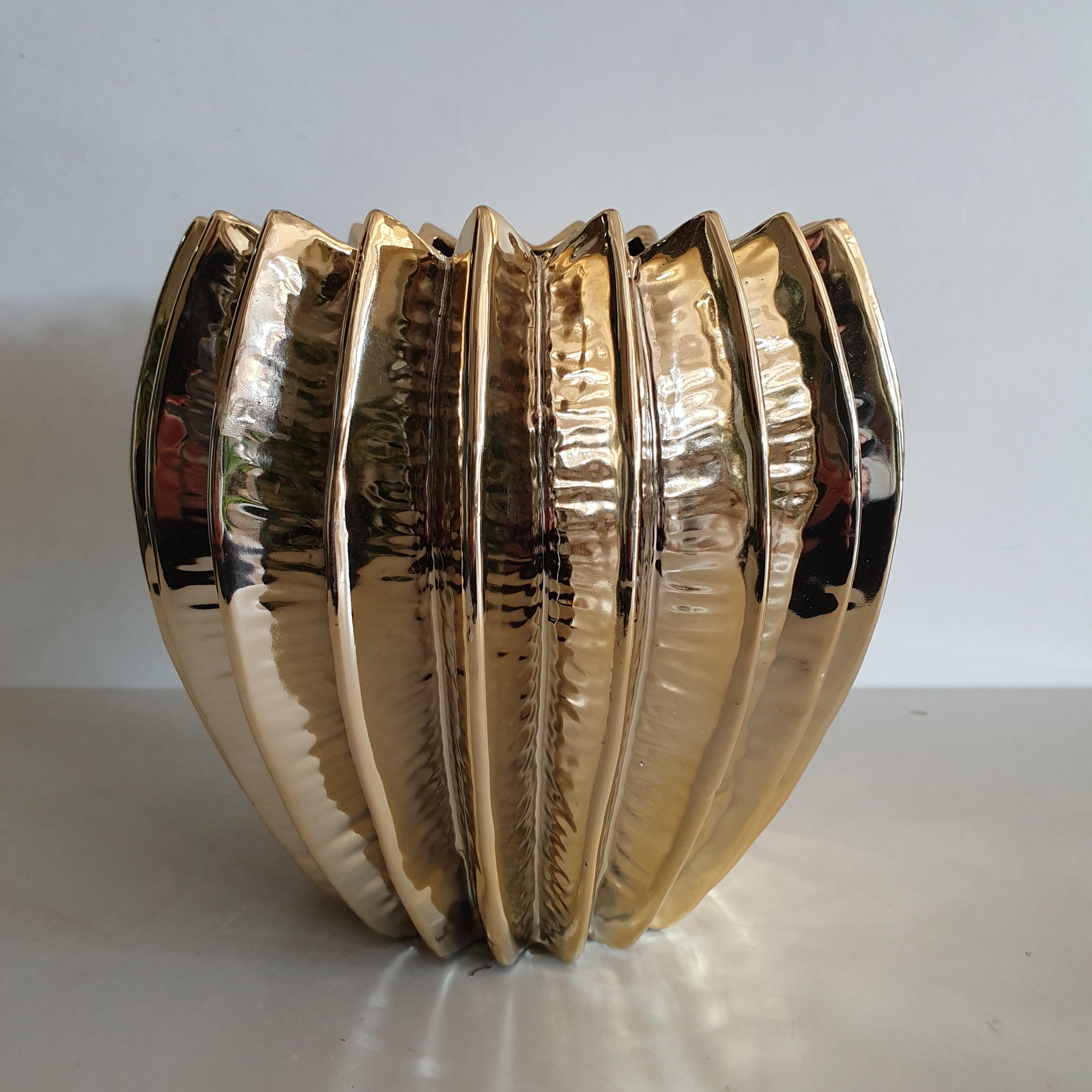 Vaso Ceramica oro piccolo