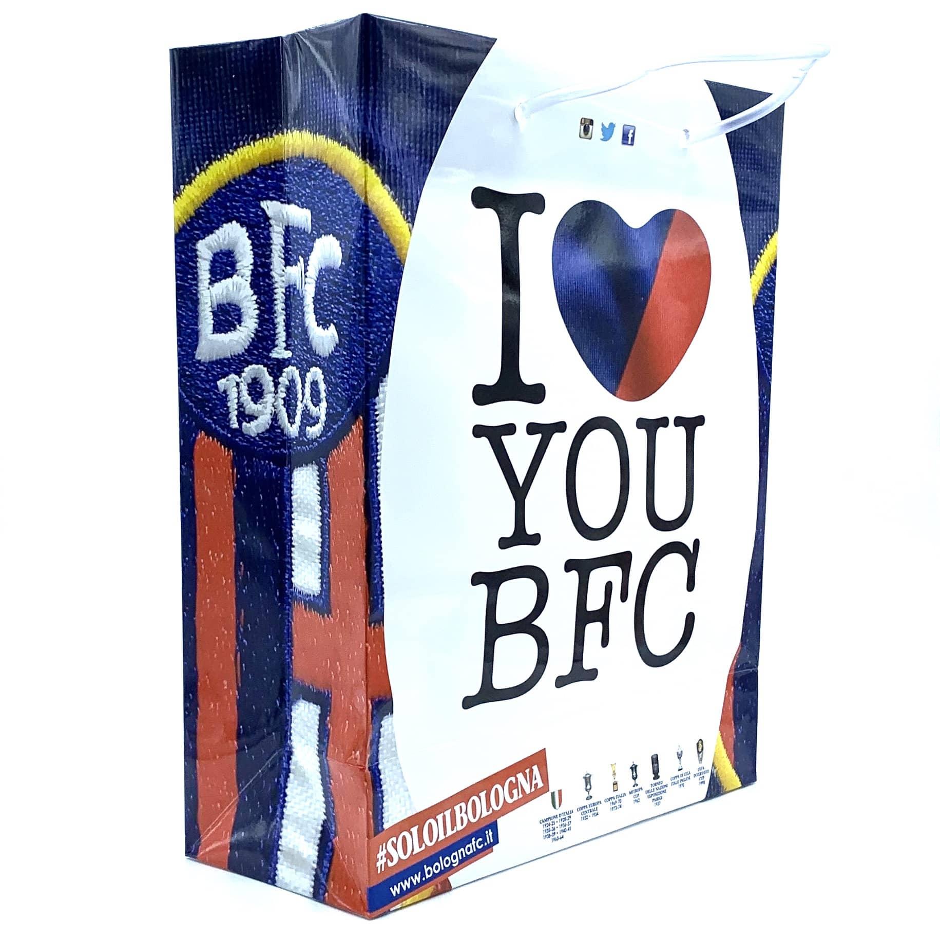 Bologna Fc SHOPPER I LOVE YOU BFC Piccola