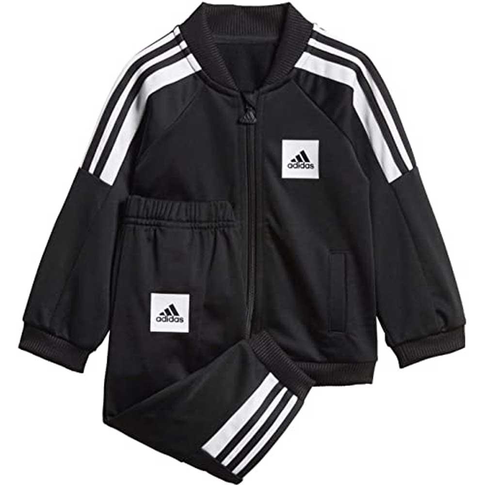 Adidas Tuta Completa Black/White Bambino