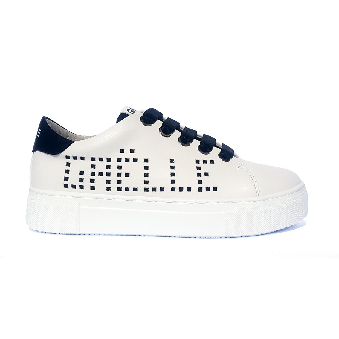 Sneaker bianca/nera Gaëlle Paris