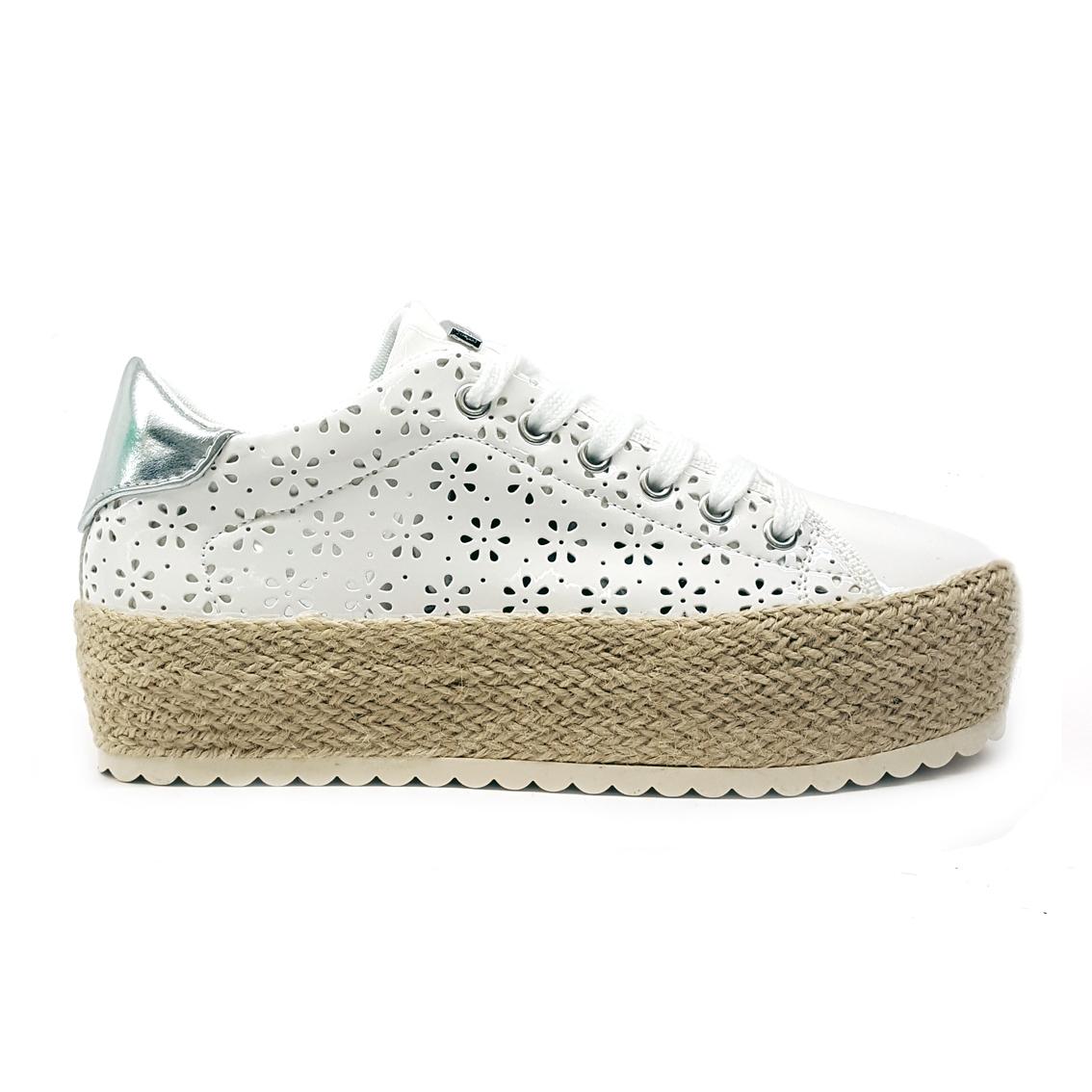 Sneaker bianca con zappa corda Guess