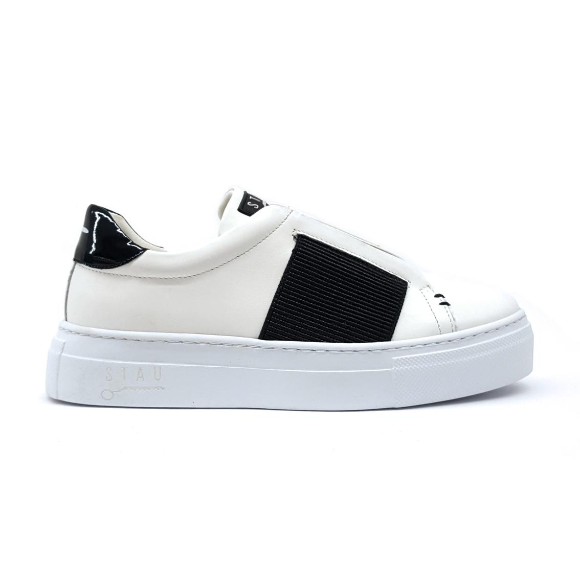 Slip on bianco/nero Stau