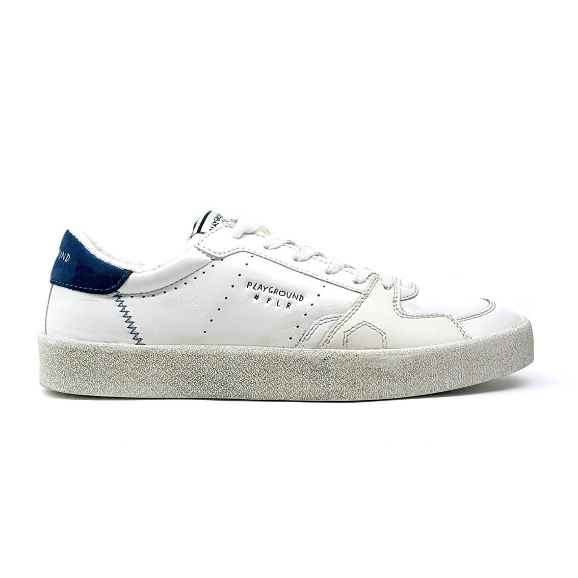 Sneaker bianca/blu Playground