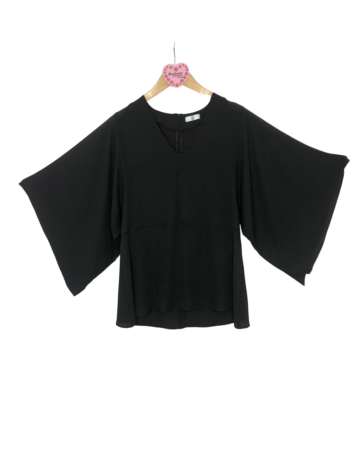 blusa maniche a kimono