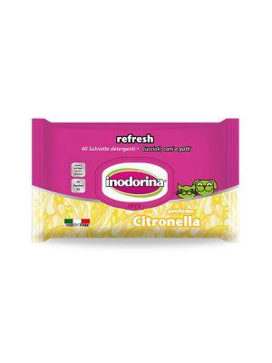 Salviette inodorina refresh profumo citronella pz.40