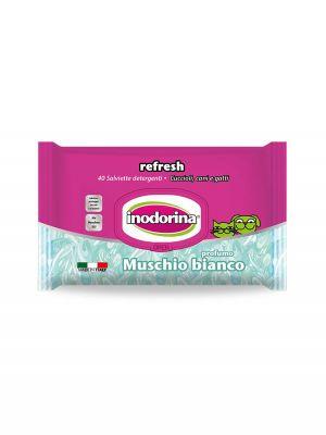 Salviette inodorina refresh profumo muschio bianco pz.40