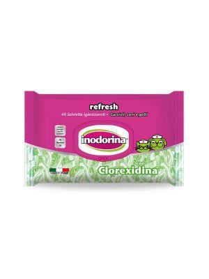 Salviette inodorina refresh profumo clorexidina pz.40