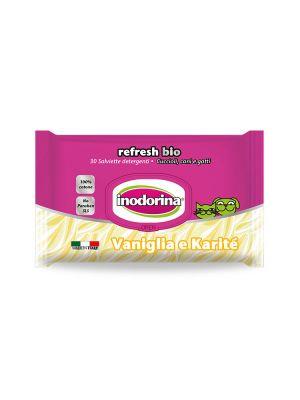 Salviette inodorina refresh bio profumo vaniglia e karitè pz.30
