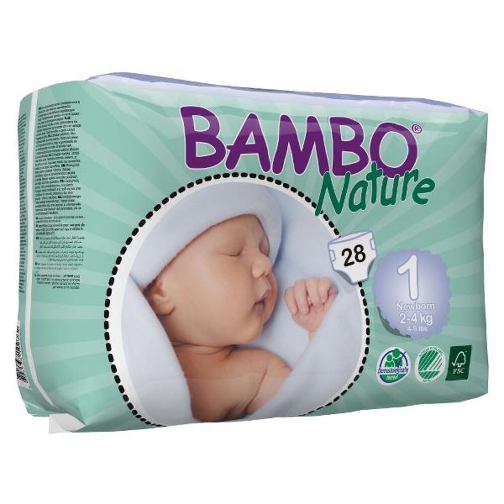 Pannolini ecologici e compostabili Bambo New Born 2-4 kg