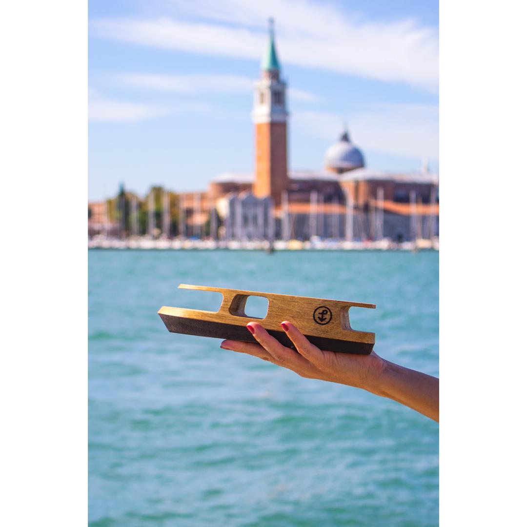Vaporetto in legno; Pieces of Venice
