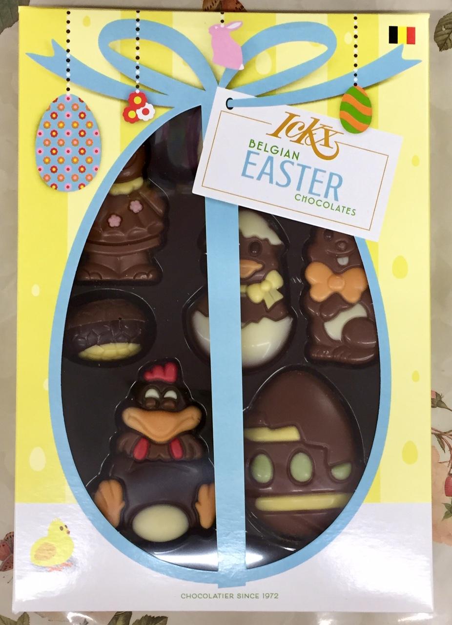Praline di cioccolato soggetti pasquali - ICKX - (Belgio)