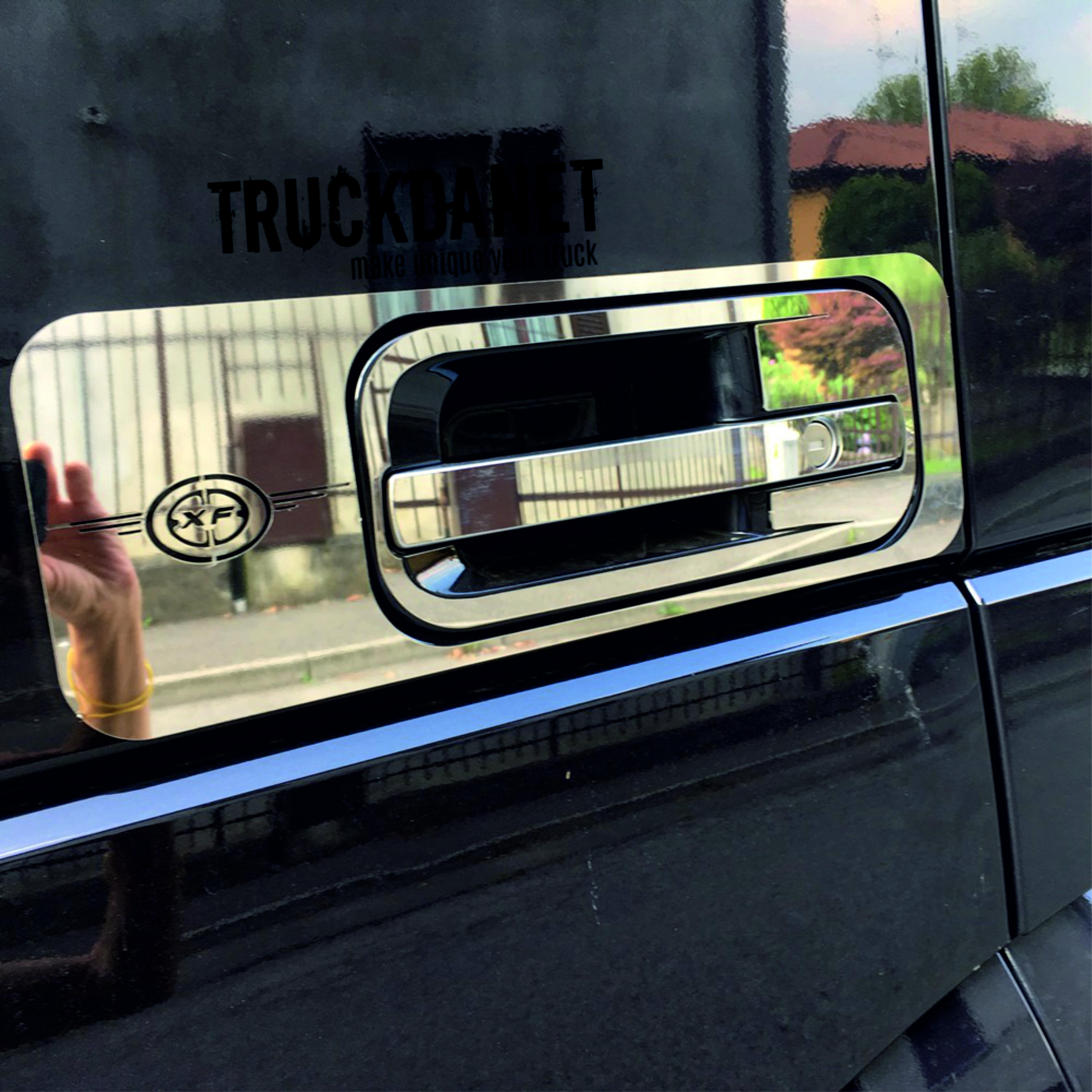 DAF Cornici maniglia esterna con decorazioni XF in acciaio inox lucido (aisi304)