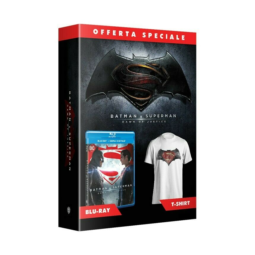 Batman V Superman Dawn of Justice - Edizione Speciale con T-Shirt (Blu-Ray)