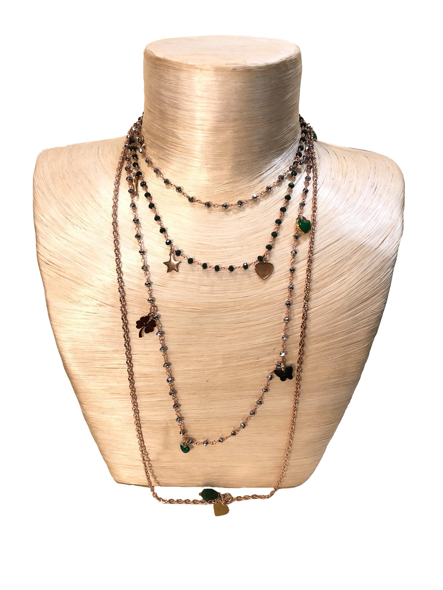 collana rosario con charms