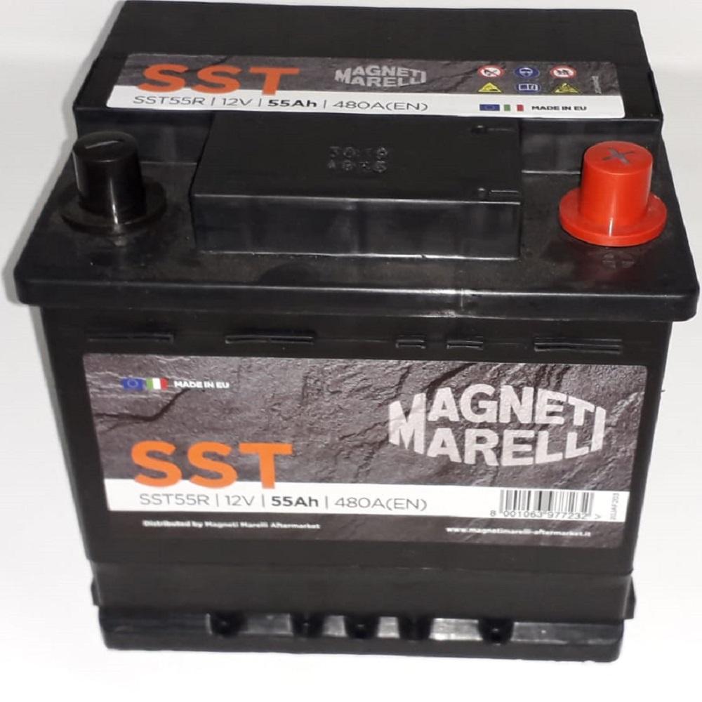 BATTERIA MAGNETI MARELLI SST55R 55AH 480EN 480A 12V