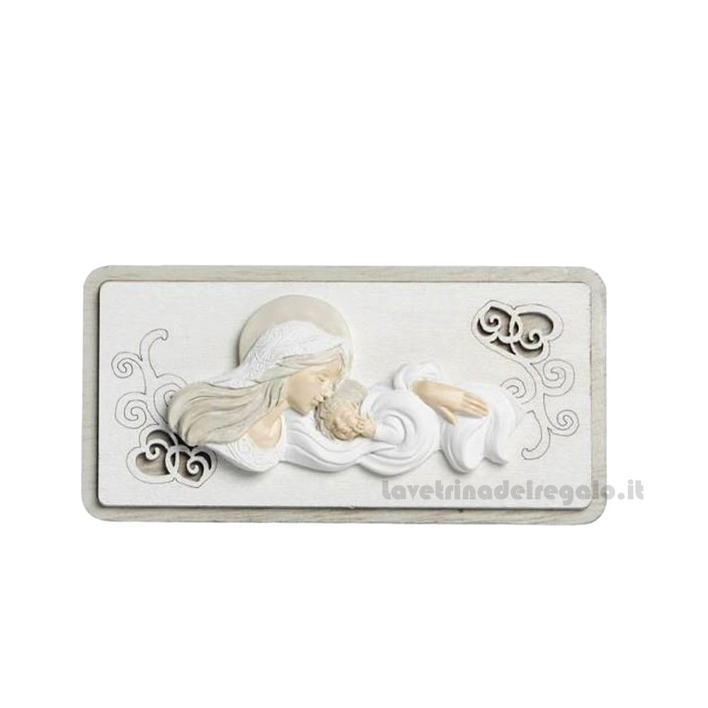 White 5.50 Inch Porcelain Holy Family Nativity Musical Box